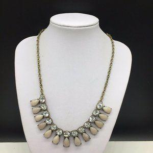 Ann Taylor Loft Gray Clear Rhinestone Necklace